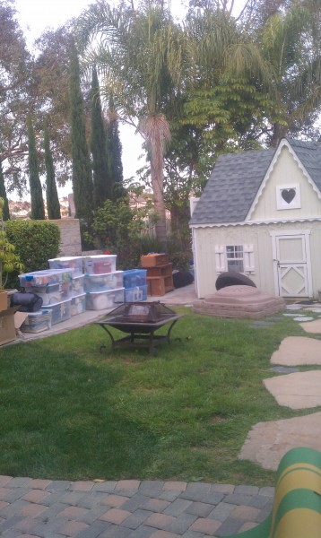 The yard is clean
