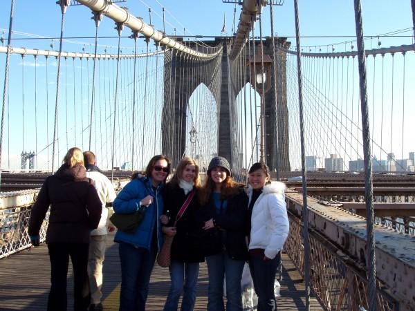 12 girls on bridge
